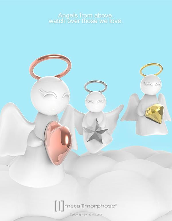 keyring angel rosegold gold silver metalmorphose mtm801 12
