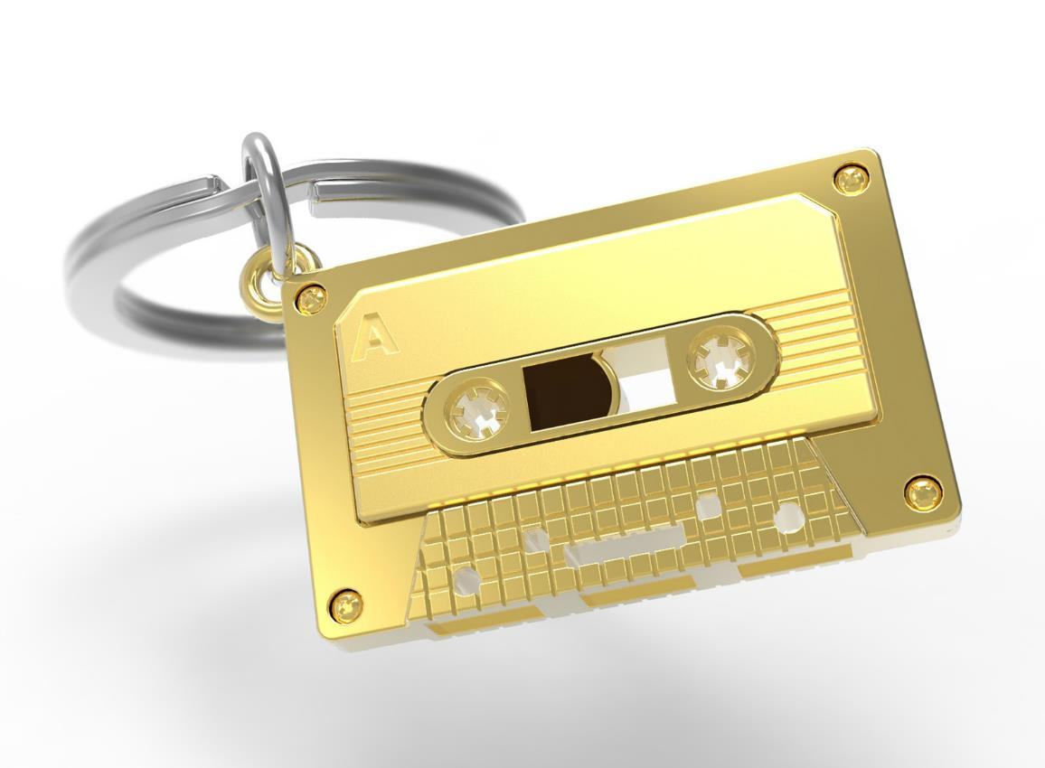 keyring audiotape gold black metalmorphose mtm219 4