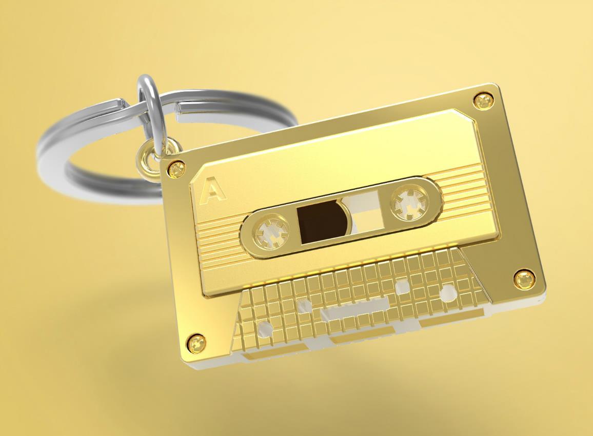 keyring audiotape gold black metalmorphose mtm219 5