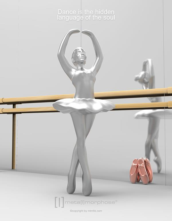 keyring ballet silver metalmorphose mtm220 3
