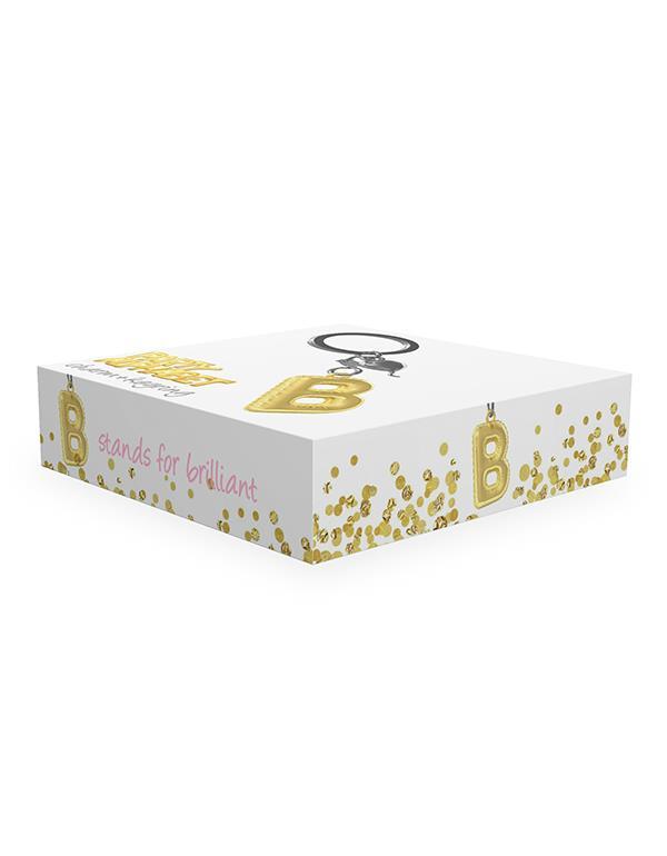 keyring balloon letter B party gold metalmorphose mtm10b 2