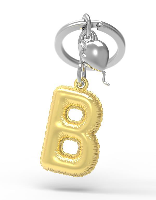 keyring balloon letter B party gold metalmorphose mtm10b 3