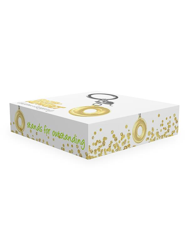 keyring balloon letter O party gold metalmorphose mtm10o 2