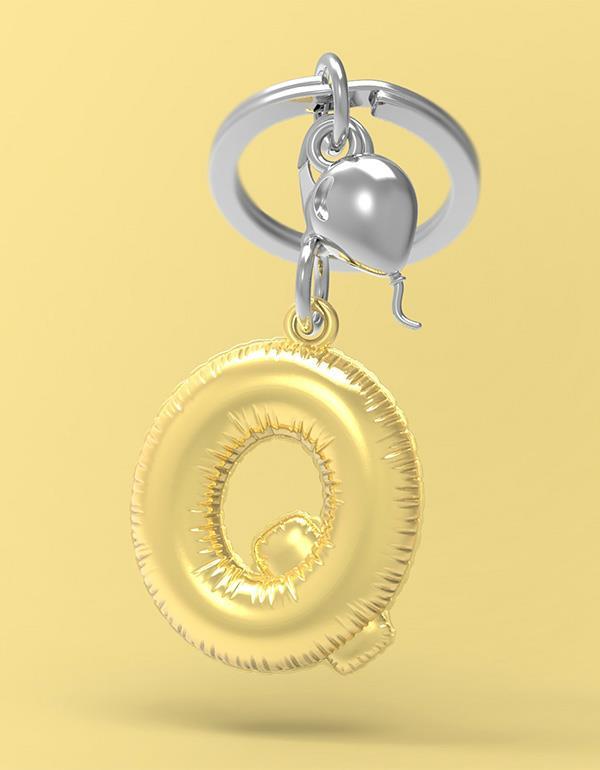 keyring balloon letter Q party gold metalmorphose mtm10q 4