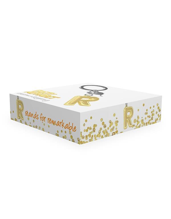 keyring balloon letter R party gold metalmorphose mtm10r 2