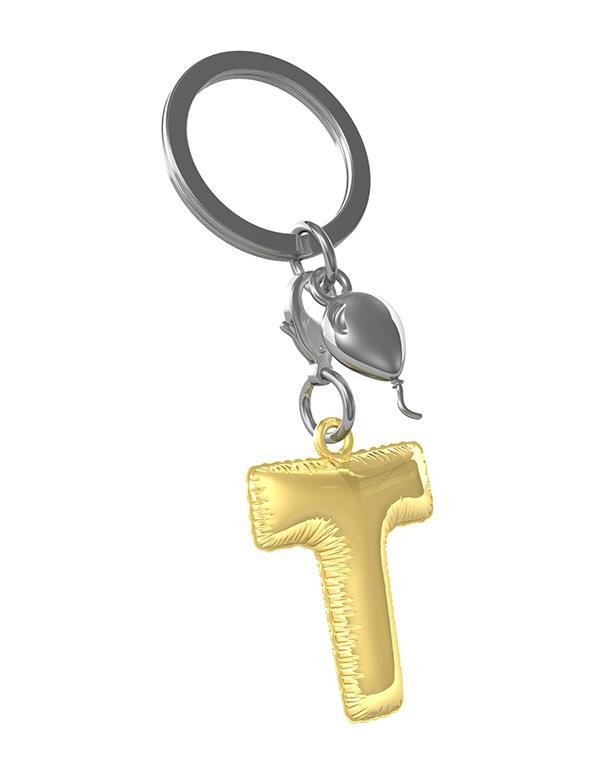 keyring balloon letter T party gold metalmorphose mtm10t 1
