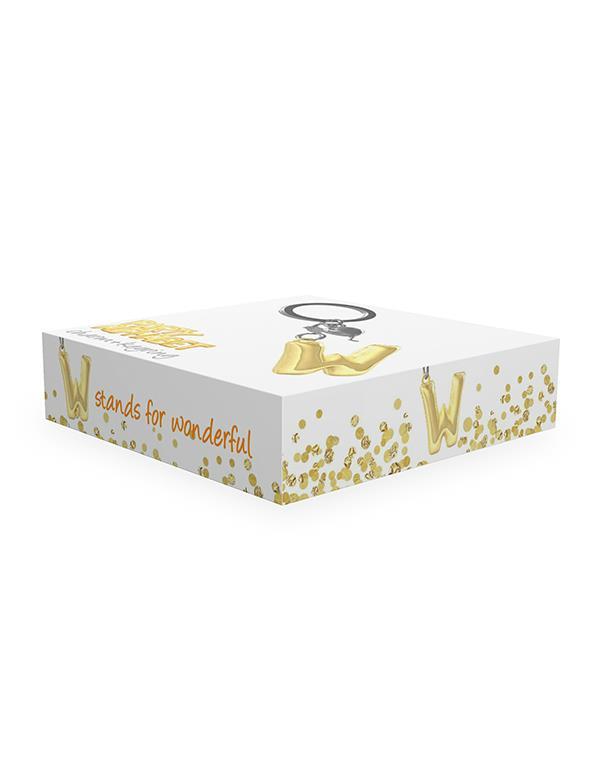 keyring balloon letter W party gold metalmorphose mtm10w 2