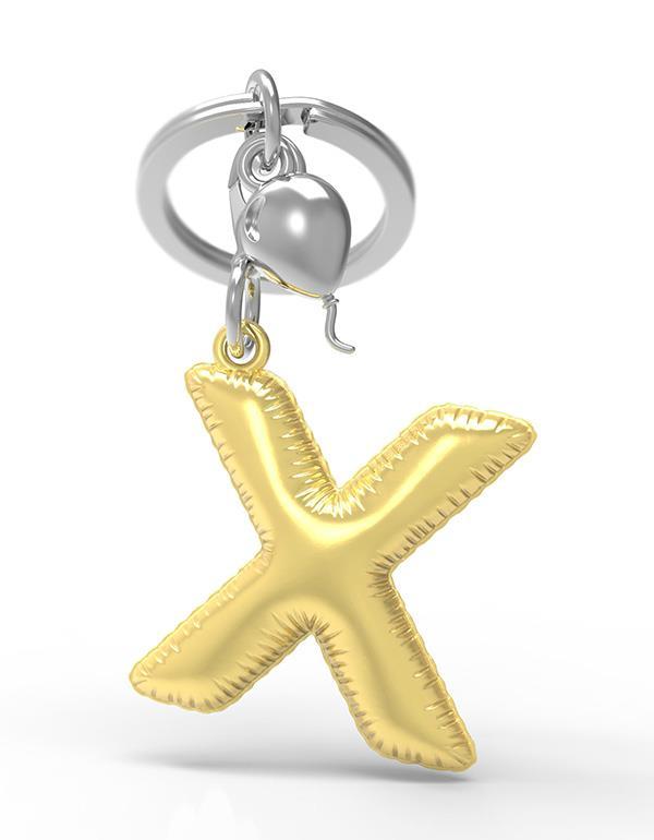 keyring balloon letter X party gold metalmorphose mtm10x 3