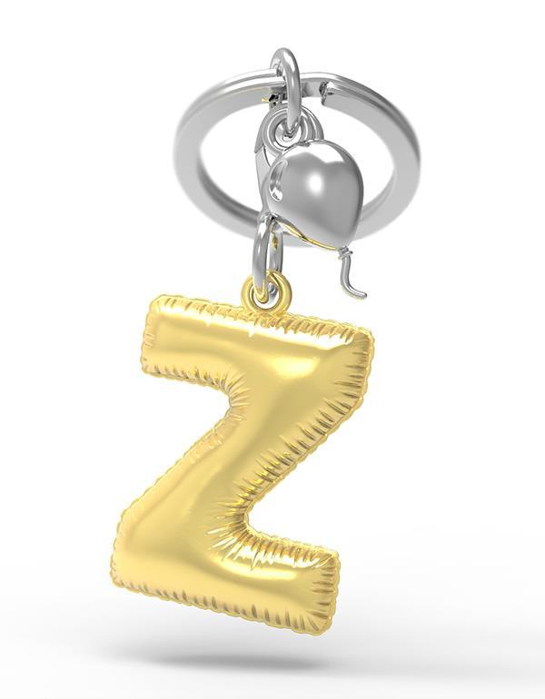 keyring balloon letter Z party gold metalmorphose mtm10z 3