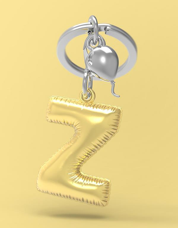 keyring balloon letter Z party gold metalmorphose mtm10z 4