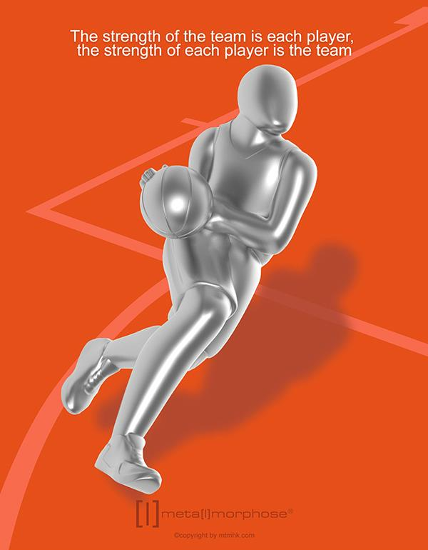 keyring basketball silver metalmorphose mtm280 4