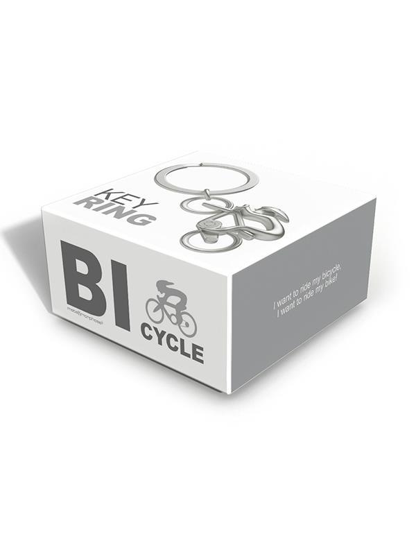 keyring bicycle silver metalmorphose mtm069 3