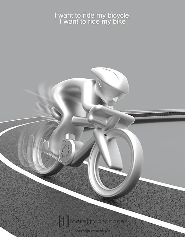 keyring bicycle silver metalmorphose mtmtm069 5