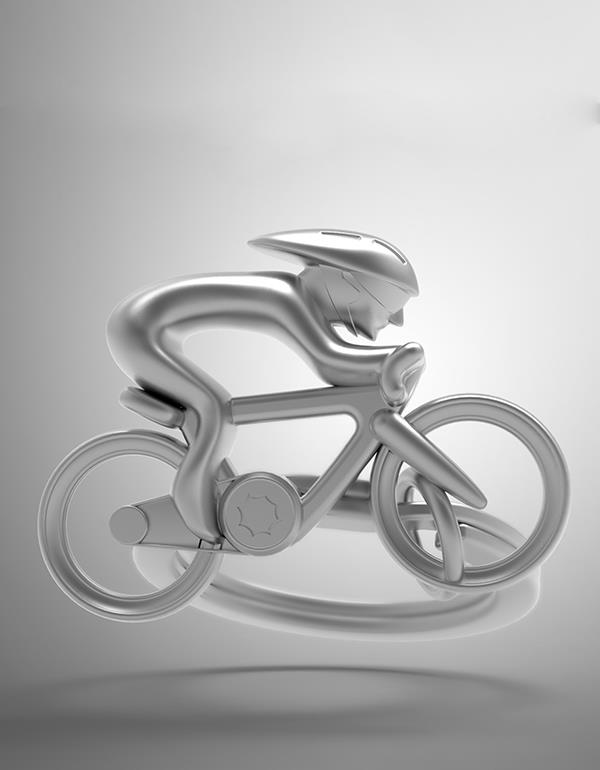 keyring bicycle silver metalmorphose mtmtm069 6