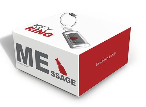 keyring bottle message boat envelope metalmorphose mtm107 3