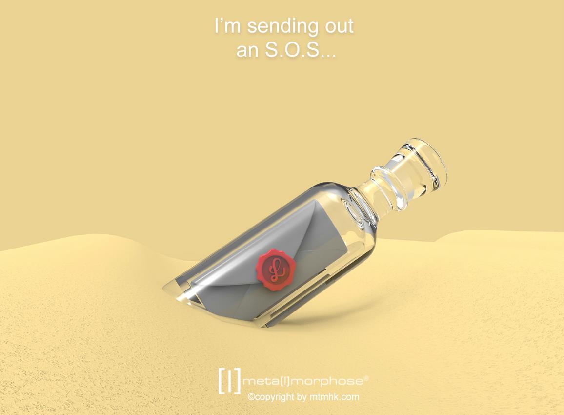 keyring bottle message boat envelope metalmorphose mtm107 7