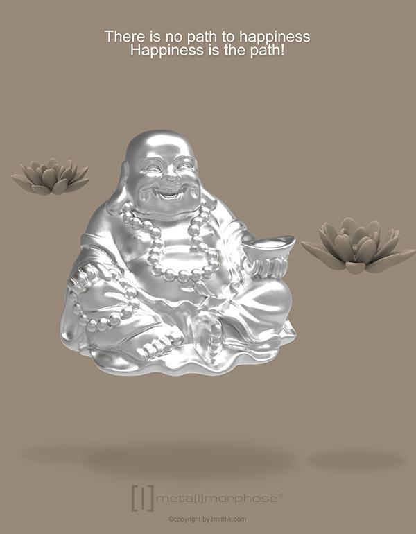 keyring buddha silver metalmorphose mtm888 5