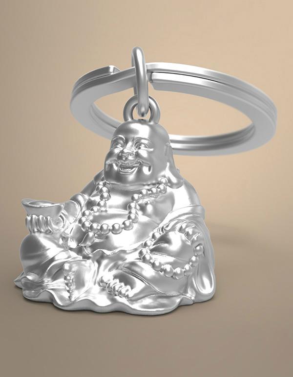 keyring buddha silver metalmorphose mtm888 6