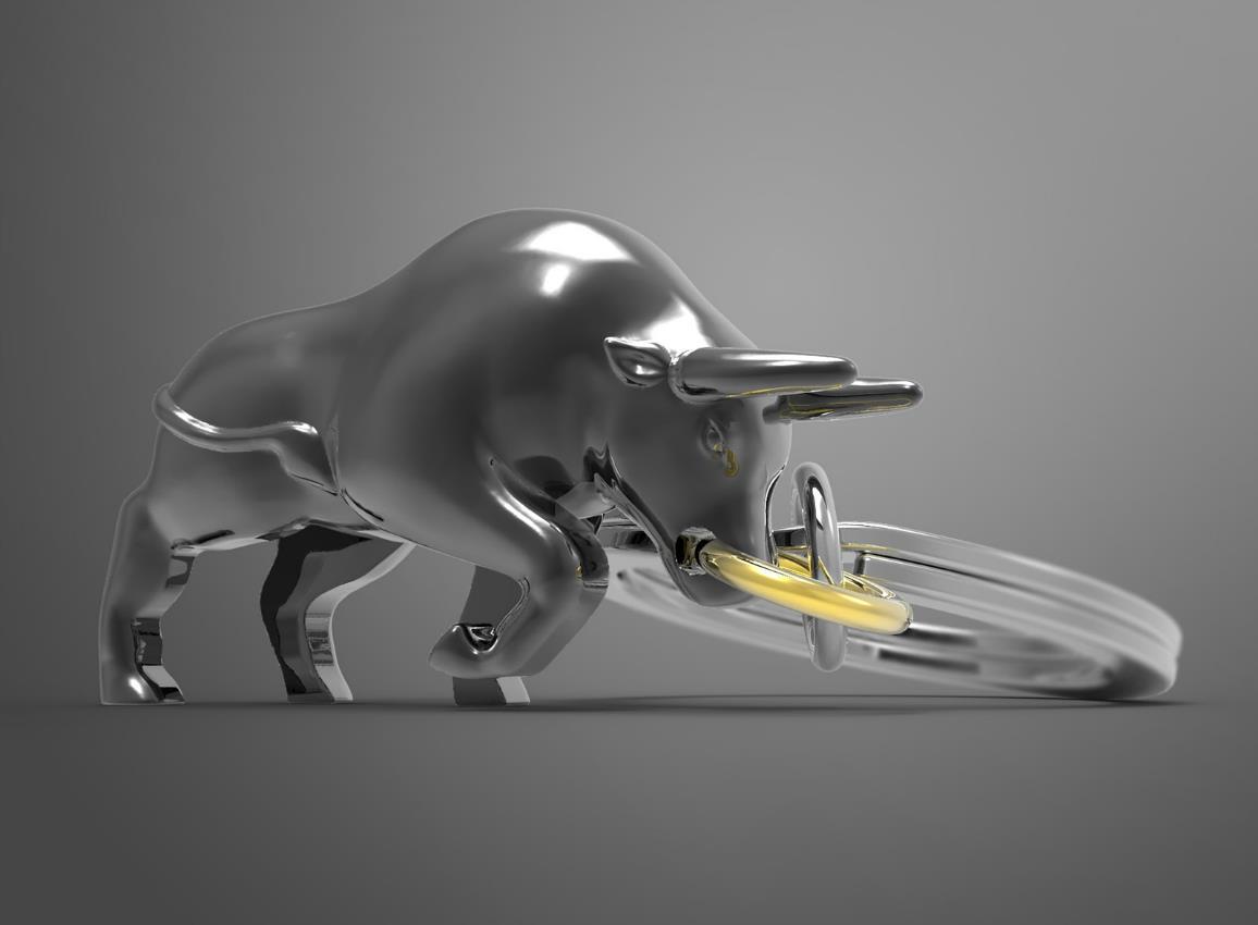 keyring bull black metalmorphose mtm092 01 5