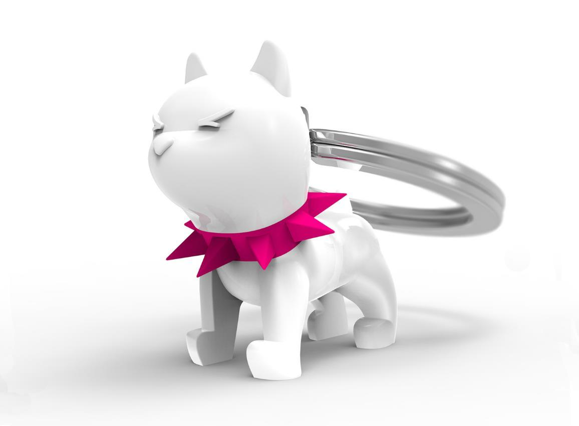 keyring bulldog black white metalmorphose mtm077 4