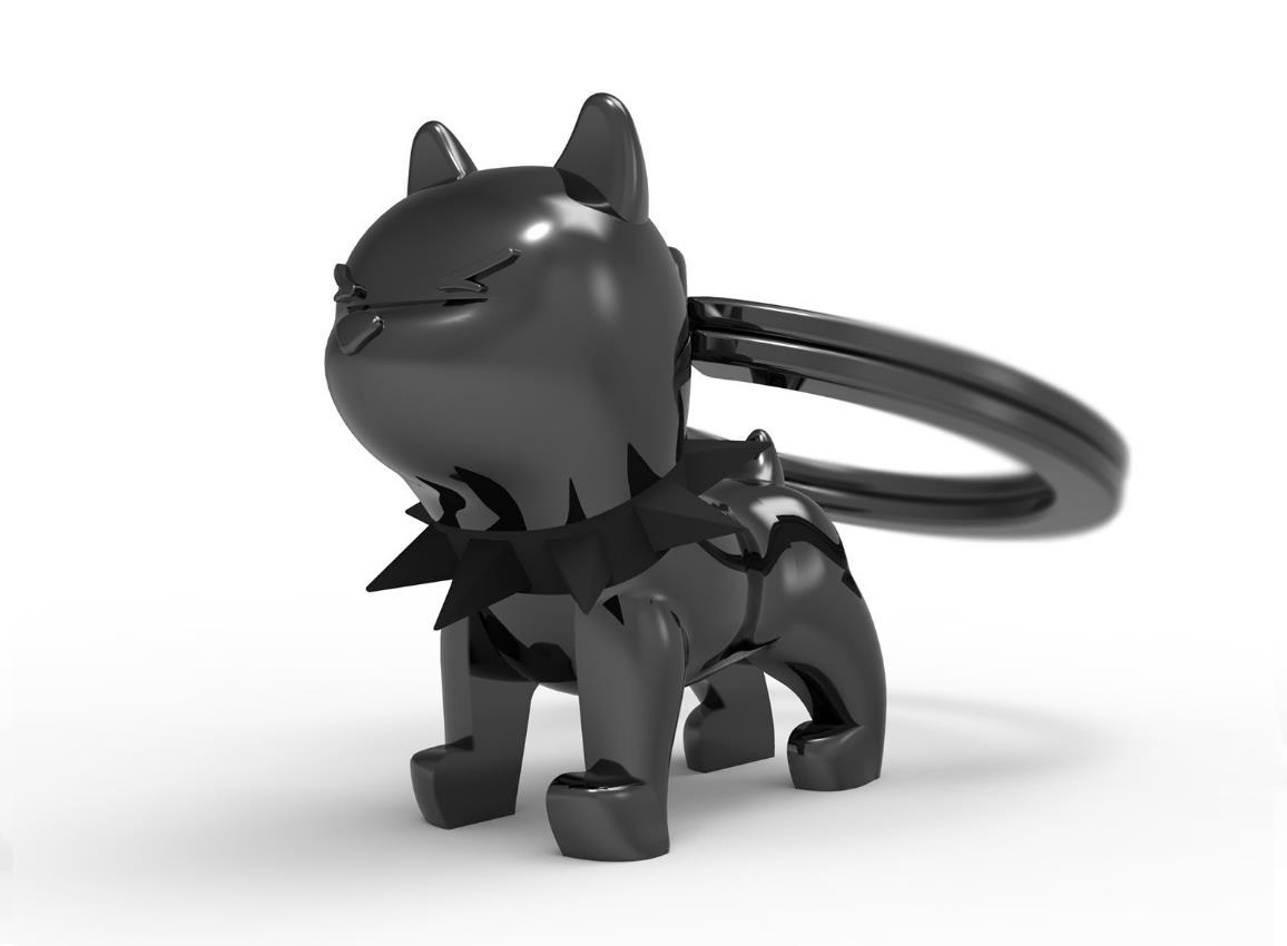 keyring bulldog black white metalmorphose mtm077 5