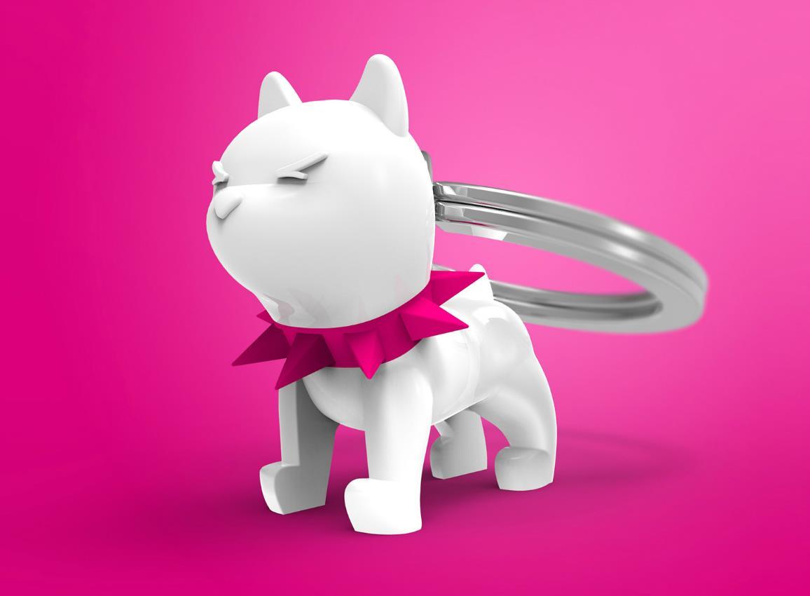 keyring bulldog black white metalmorphose mtm077 8