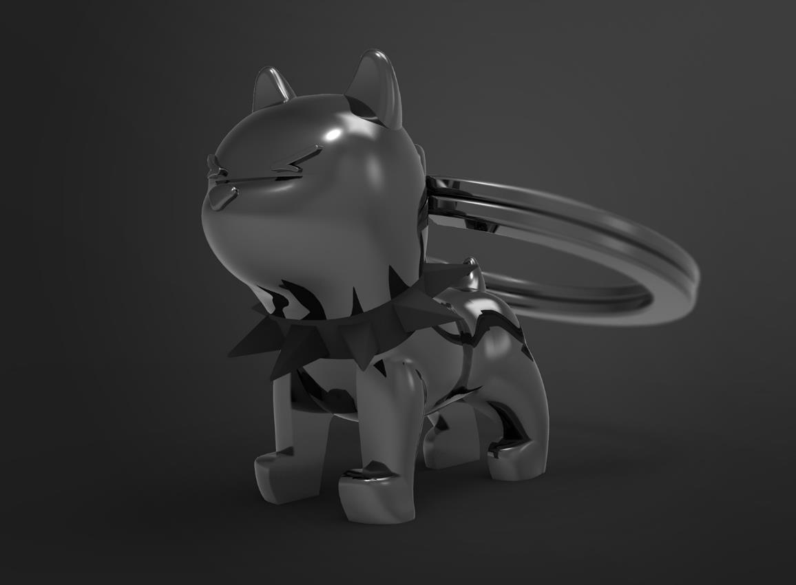 keyring bulldog black white metalmorphose mtm077 9