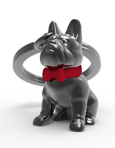 keyring bulldog silver black metalmorphose mtm253 5
