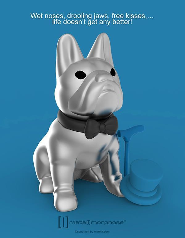 keyring bulldog silver black metalmorphose mtm253 6