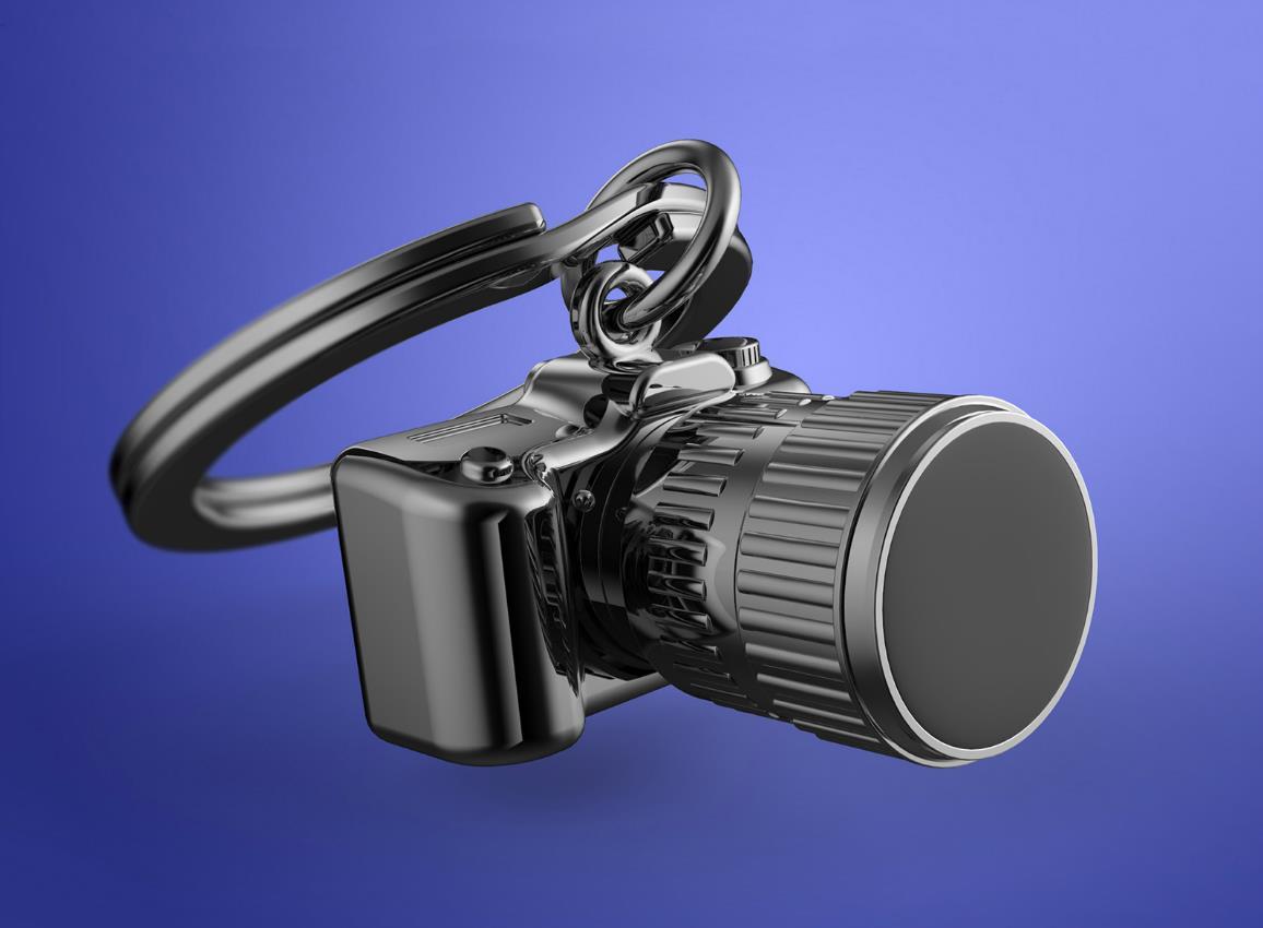 keyring camera black metalmorphose mtm071 5