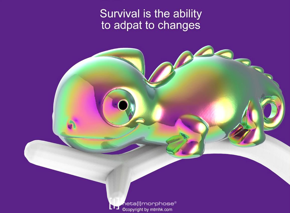keyring chameleon rainbow vacuum metalmorphose mtm131 8
