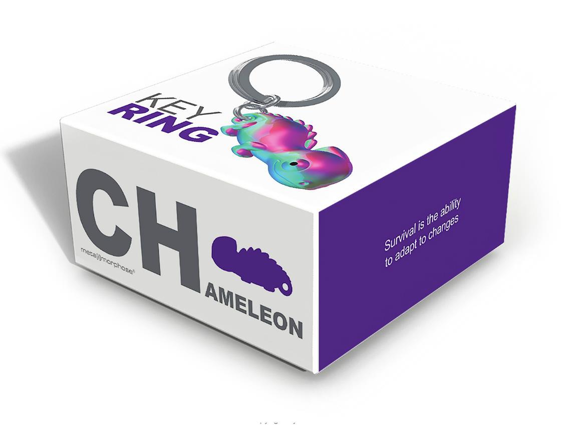 keyring chameleon rainbow vacuum metalmorphose mtm131 9