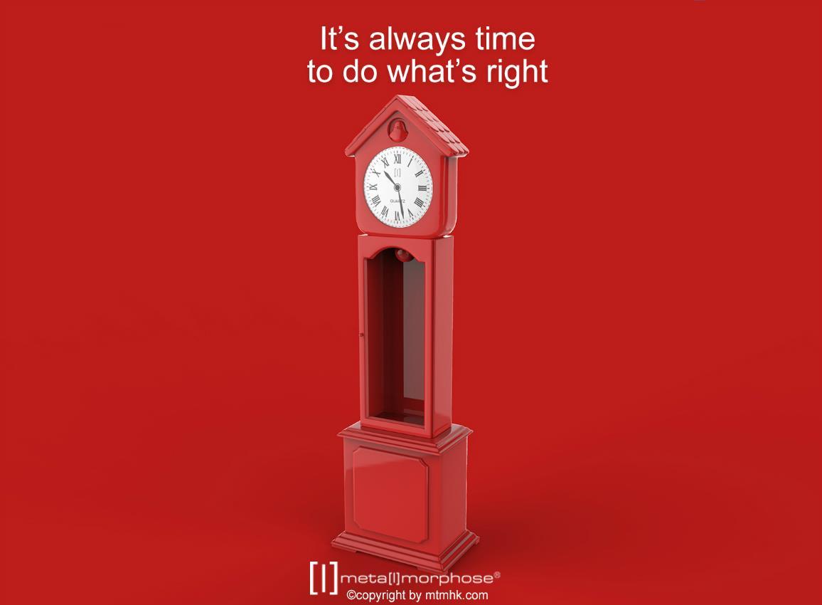 keyring clock house silver pink red metalmorphose mtm123 7