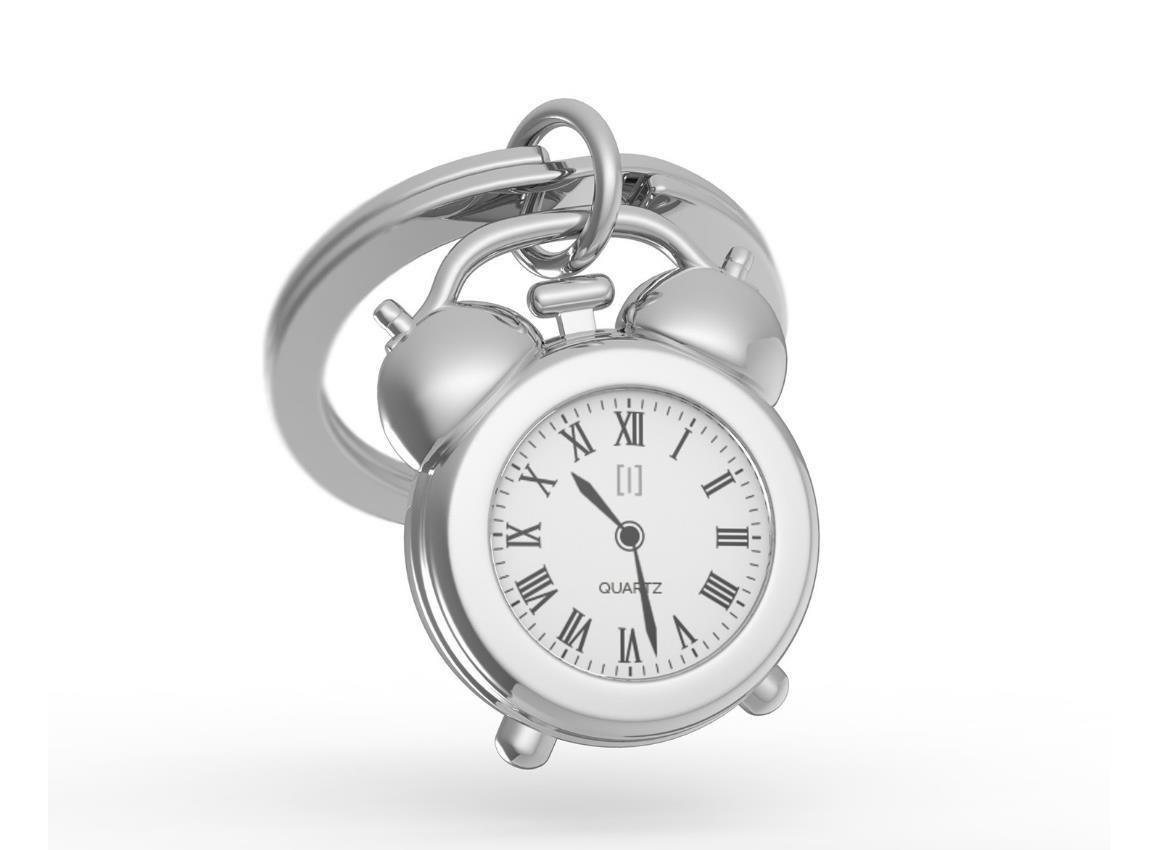 keyring clock vintage gold black pink metalmorphose mtm126 1
