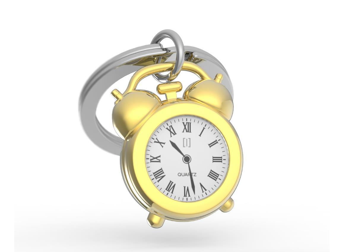 keyring clock vintage gold black pink metalmorphose mtm126 2