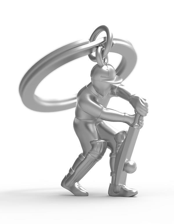 keyring cricket silver metalmorphose mtm282 3