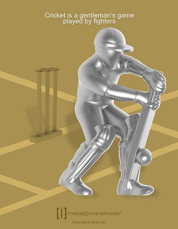 keyring cricket silver metalmorphose mtm282 4