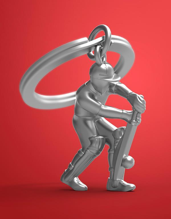 keyring cricket silver metalmorphose mtm282 5