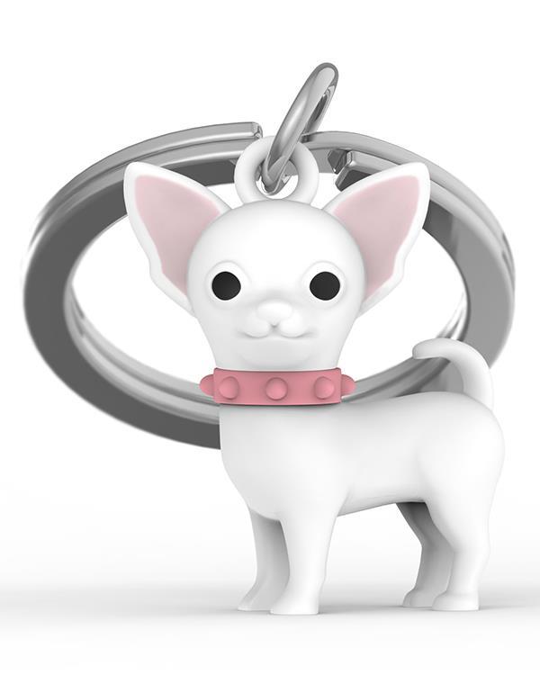 keyring dog chihuahua white metalmorphose mtm254 4