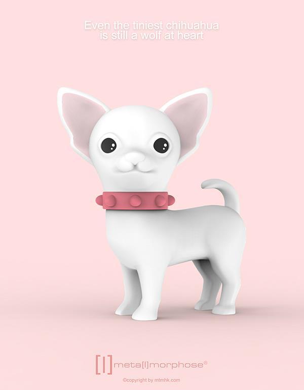 keyring dog chihuahua white metalmorphose mtm254 5