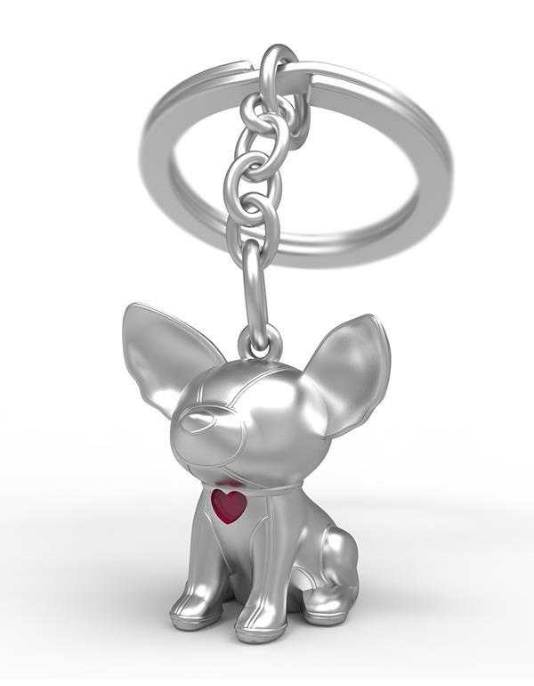 keyring dog whaawhaa silver metalmorphose mtm902 3