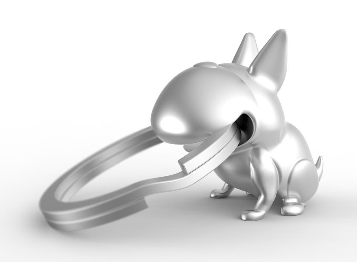 keyring dog whaawhaabu silver metalmorphose mtm923 3