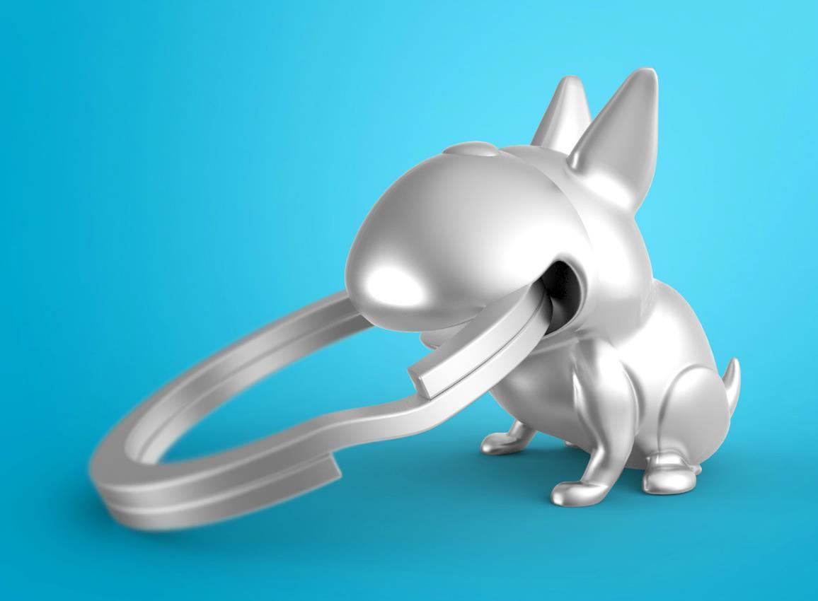 keyring dog whaawhaabu silver metalmorphose mtm923 4