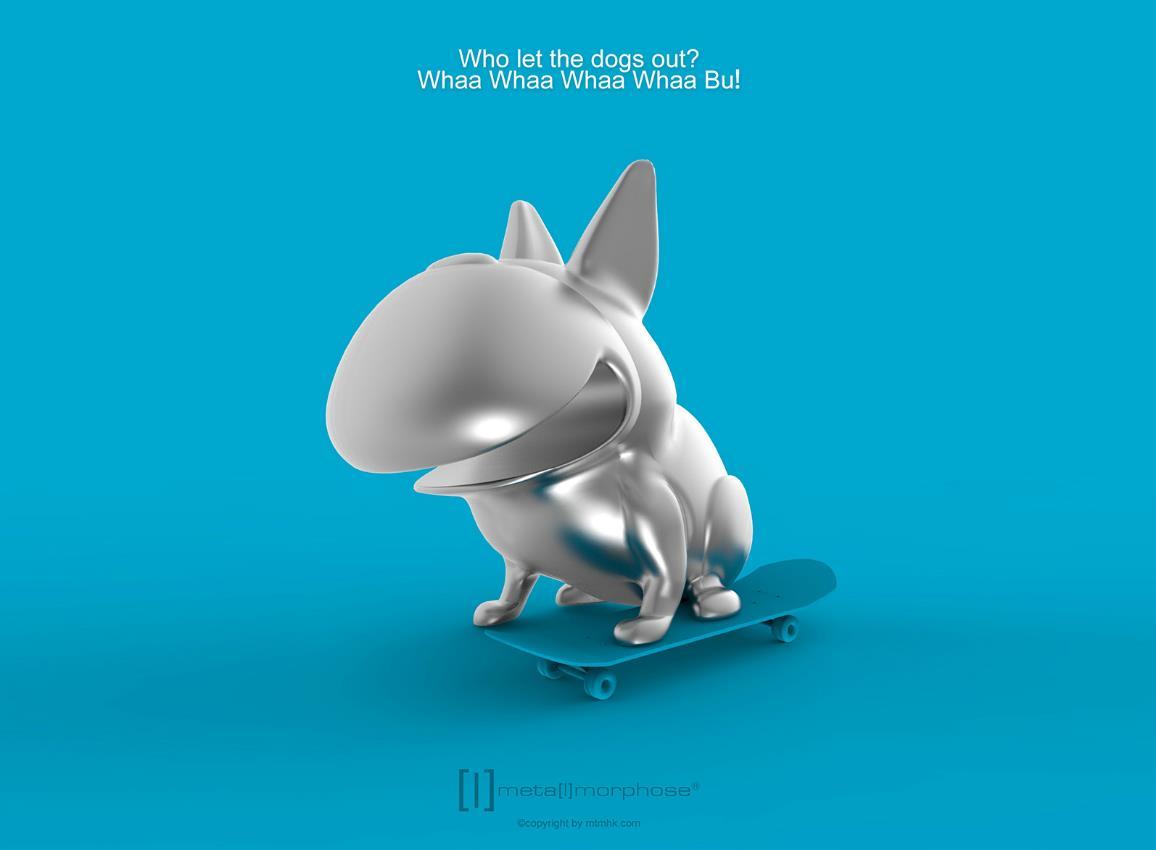 keyring dog whaawhaabu silver metalmorphose mtm923 5