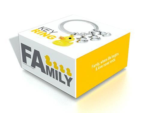 keyring duck family yellow metalmorphose mtm925 7