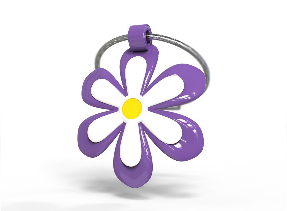 keyring flower purple yellow pink metalmorphose mtm108 5