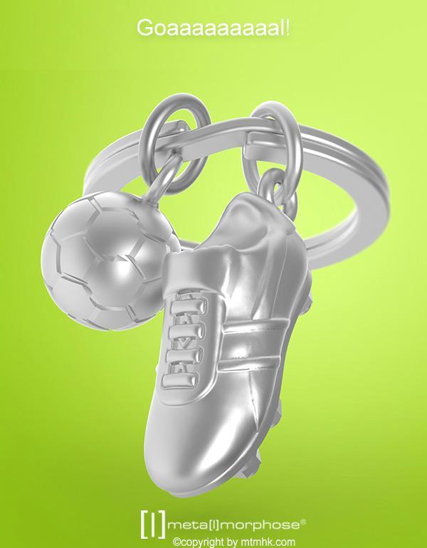 keyring football shoes silver metalmorphose mtm909 5