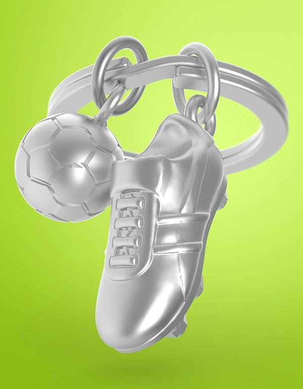 keyring football shoes silver metalmorphose mtm909 6
