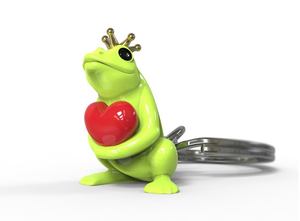 keyring frog green silver metalmorphose mtm217 4