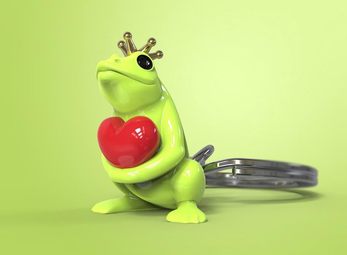 keyring frog green silver metalmorphose mtm217 7